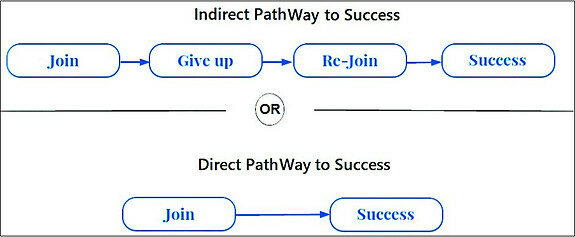 direct and indirect pathways for online success